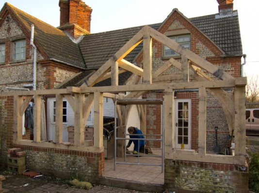 Greatham Cottage Arch Collor Braced Truss Roof Anderson