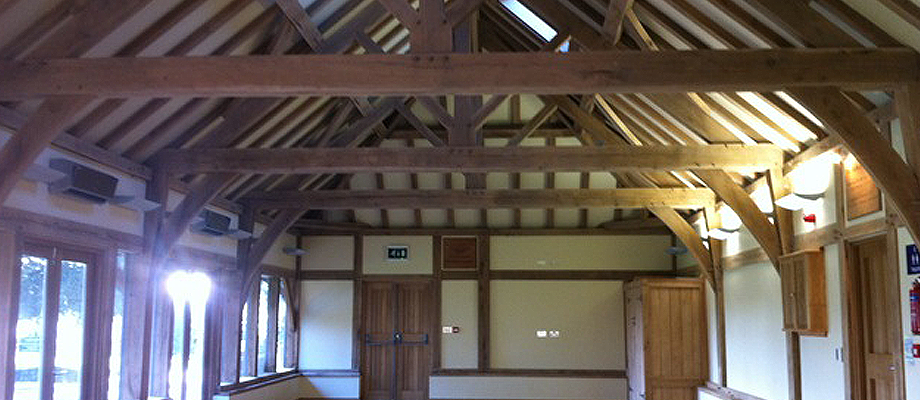 Twyford School Mulberry Pavilion Full Green Oak Frame
