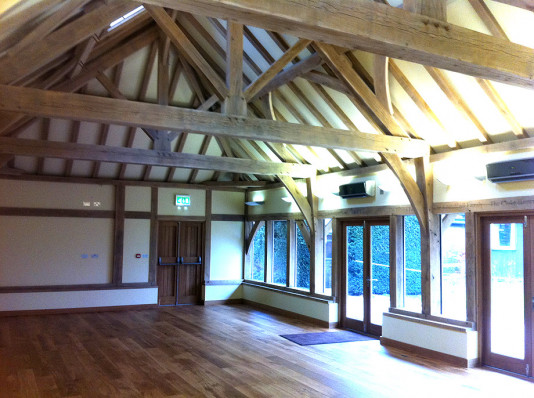 Twyford School Mulberry Pavilion Full Green Oak Frame