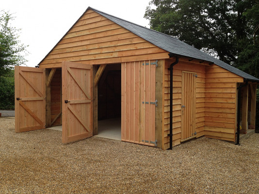 Two Bay Garage with Log Store