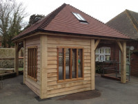 West Wittering School Outdoor Oak Frame Class Room