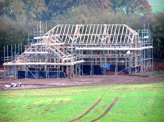 Ashley Farm House 3 Bay Oak Frame House