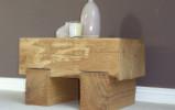 Chunky Oak Side Table