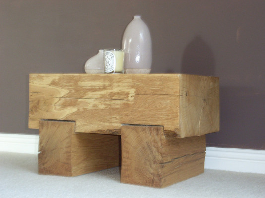 Chunky Oak Side Table
