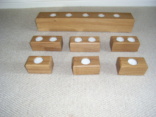 Handmade Oak Candle Holders