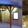 Curved Green Oak Framed Canopy